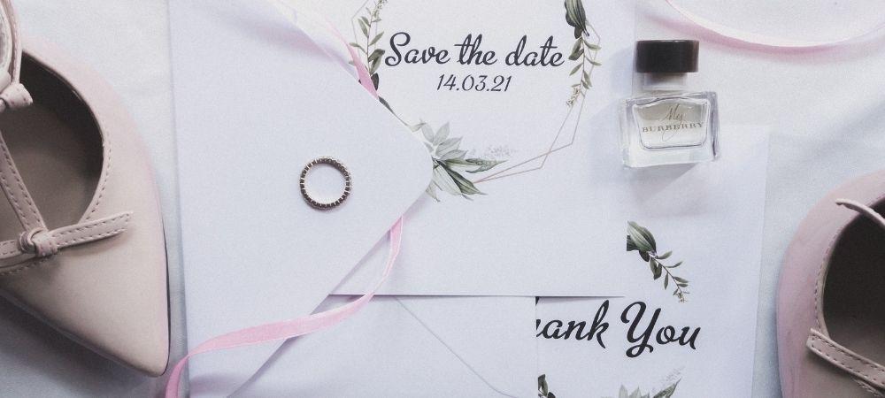 Header image showing a wedding invitation