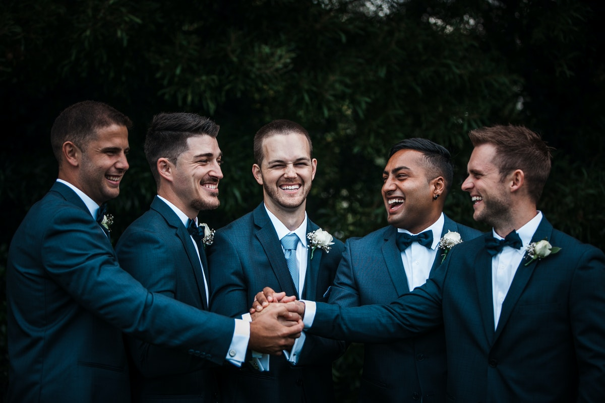 Pick a smart sharp suit for your wedding day outfit.