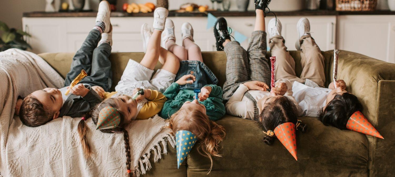 Children enjoying some fun kids party games.