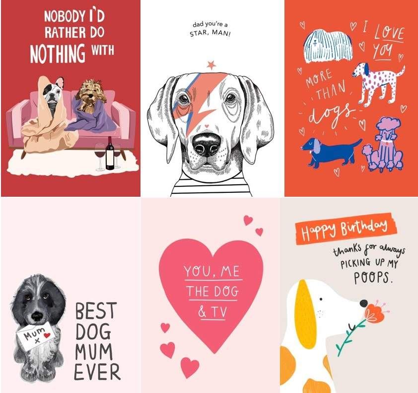 Dog cards from thortful